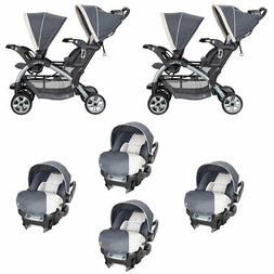 Baby Trend 5 Point Harness Double Stroller & 35 LB Infant Ca