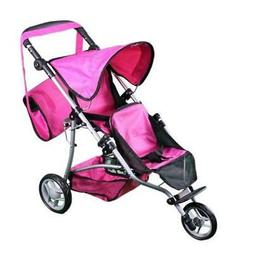 Mommy & me Twin doll jogger 9669DL with FREE carriage bag