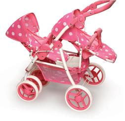 Baby Stroller Accessories Reversible Double Doll Adjustable
