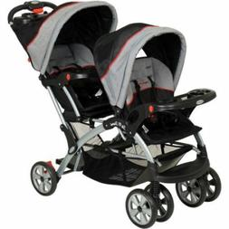 Baby Stroller Double Seat Carriage Twins Boy Girl Newborn Ca