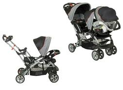 BUY NOW Double Travel System Stroller Baby Infant Twin Car S
