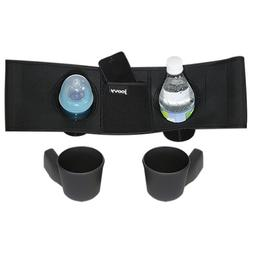 Joovy Caboose VaryLight Parent Organizer and Cup Holders, Bl