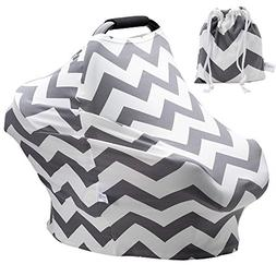 Baby Car Seat Covers Super Soft Stretchy and Breathable Nurs