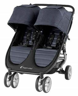 Baby Jogger City Mini 2 Twin Baby Double Stroller Carbon NEW
