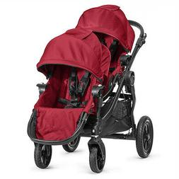 Baby Jogger City Select Double Stroller in Red with Black Fr