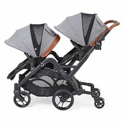 Contours Curve Double Stroller for Infant, Graphite Gray - F