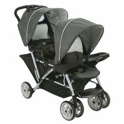 Baby Double Twin Rear and Front Reclining Seat Stroller Trav