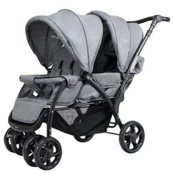 Foldable Lightweight Front Back Seats Double Baby Stroller 4