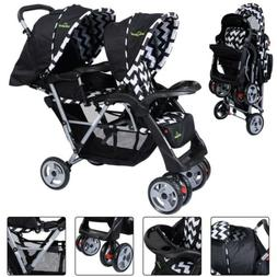 Foldable Twin Baby Double Stroller Kids Jogger Travel Toddle