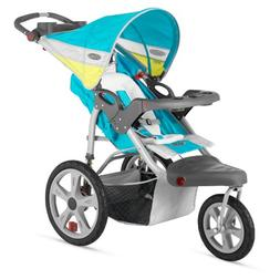Instep Grand Safari Single Swivel Stroller, Blue/Yellow