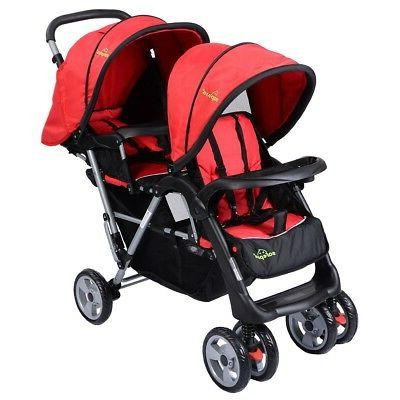 Foldable Twin Baby Stroller Toddler