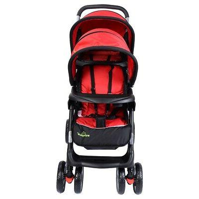 Foldable Twin Baby Double Stroller Kids Travel Toddler