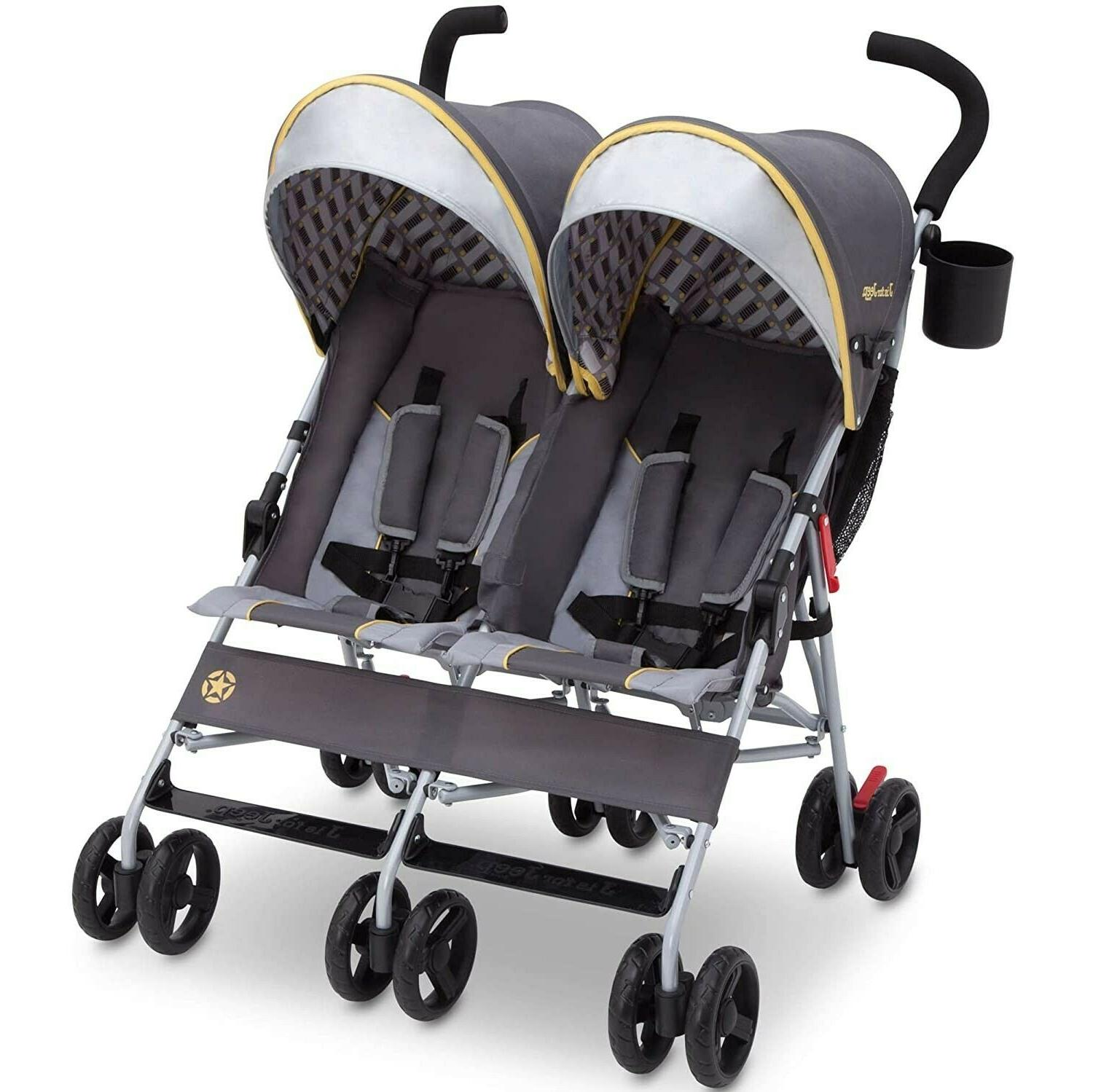 Foldable Twin Double Stroller lightweight Umbrella Stroller