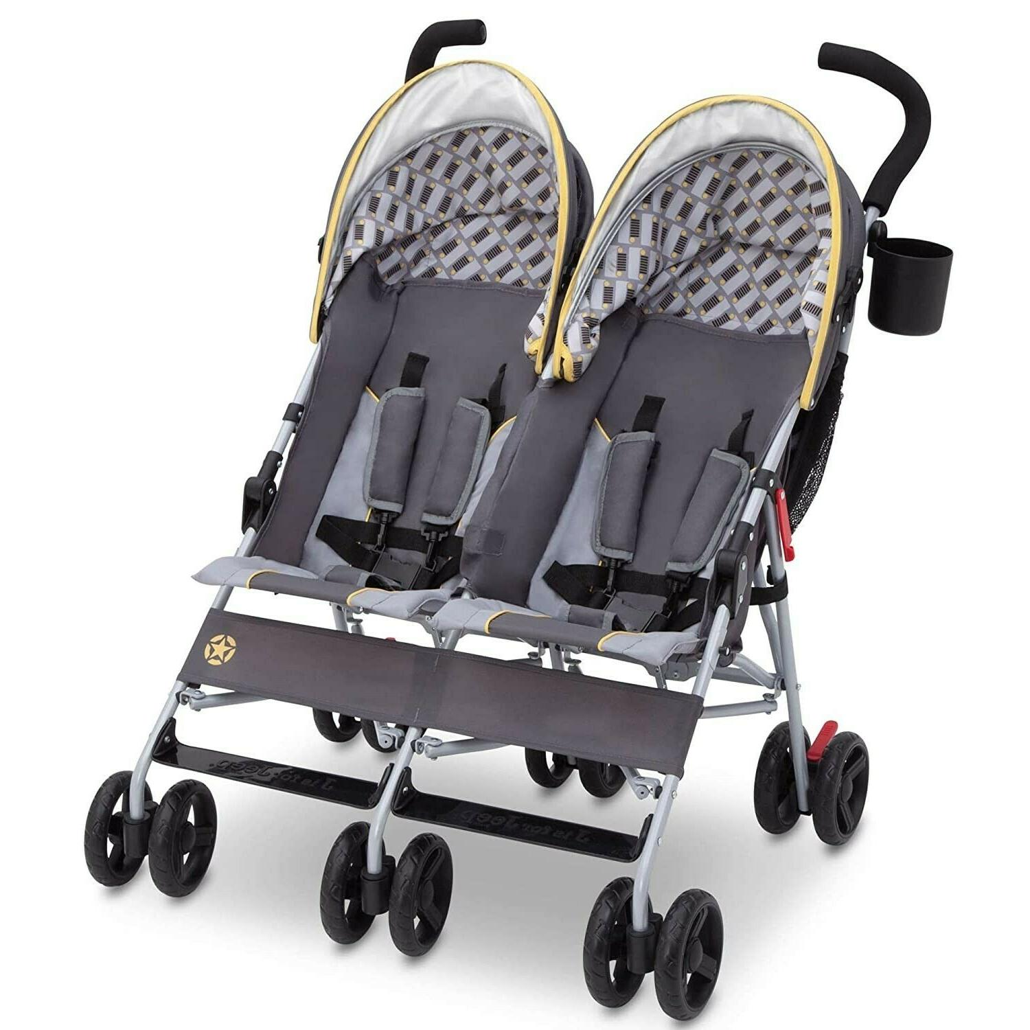 Foldable Twin Double Stroller Stroller Pushchair