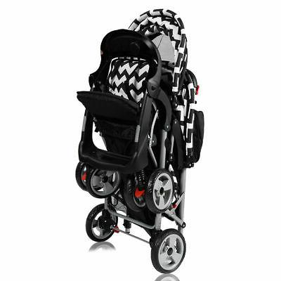 Foldable Twin Double Stroller Travel Infant Pushchair
