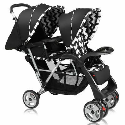 foldable twin double stroller jogger