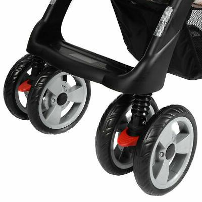 Foldable Twin Stroller Jogger Travel Infant