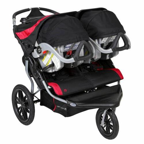 Baby Trend Lite Double Stroller, Candy Apple