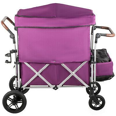 Folding Collapsible Folding Cart Utility Outdoor Purple