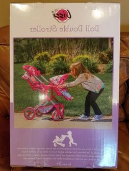 """LISSI DOLL DOUBLE STROLLER FITS 2 DOLLS UP TO 18"""" COLOR: MUL"""