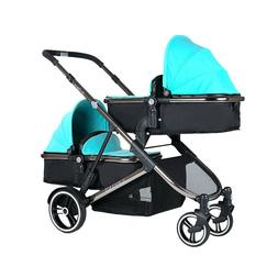 Luxury baby Stroller 2 in 1 Twins Tandem Double Second Seat