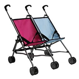 Mommy & Me Twin Doll Stroller Foldable Umbrella Double for 1