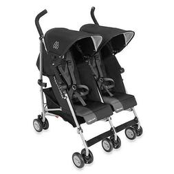 NEW Black  Maclaren Twin Triumph Double Light Weight Strolle