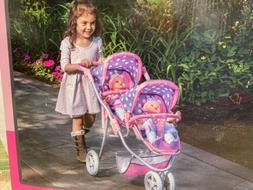NEW! Lissi Double Twin Doll Toy Stroller   NIB!