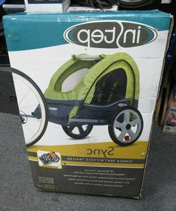 NEW INSTEP SYNC SINGLE SEAT BICYCLE TRAILER - Green/Grey -