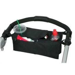 Baby Stroller Parent Console Organizer With Double Cup Holde