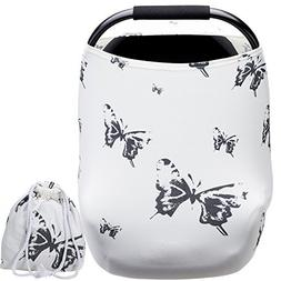Nursing Covers for Baby Boys and Girls Butterfly Printing wi