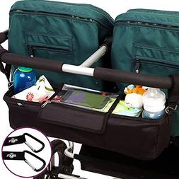BEST DOUBLE STROLLER ORGANIZER Storage Bag for Double/Twin/T