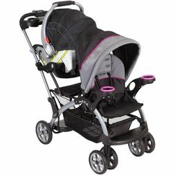 sit and stand stroller infant toddler double