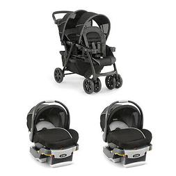 Chicco Together Double Stroller and Rear Facing Car Seat, Co