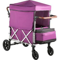 Twin Baby Double Baby Stroller Wagon 2 Passenger Easy Fold w
