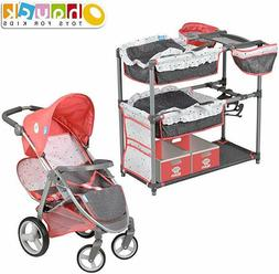Hauck Twin Doll Play Set and Double Stroller