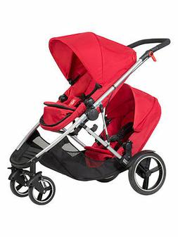 Phil & Teds New Voyager Stroller & Double Kit Red Brand New
