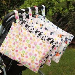 Waterproof Diaper Bags Double Zippered Layers Washable Strol