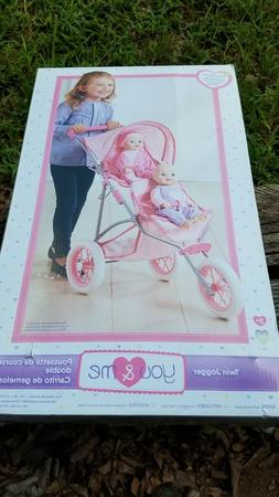 You & Me Doll Twin Stroller Double Jogger stroller